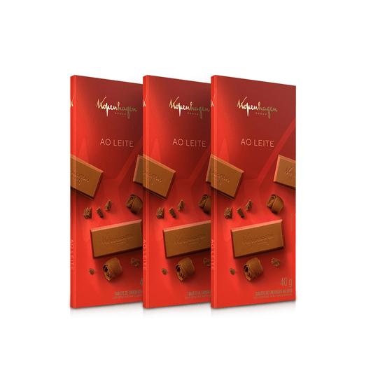 Kit Tablete Ao Leite 40G - 3 Un