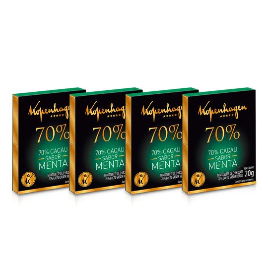 Kit Minitablete Cacau 70% C/ Menta 20G - 4 Un