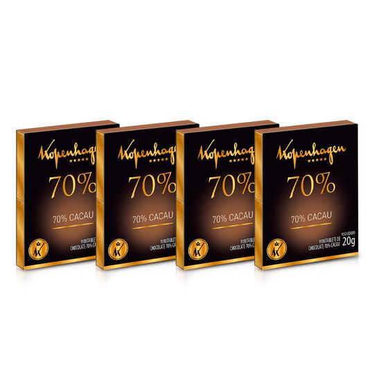 Kit Minitablete Cacau 70% 20G - 4 Un