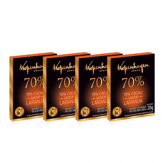 Kit Minitablete Cacau 70% C/ Laranja 20G - 4 Un